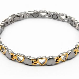 New stainless steel magnetic two tone bracelet